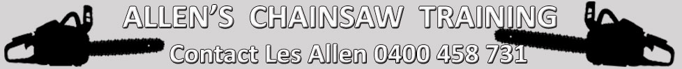 Allens Chainsaw Training